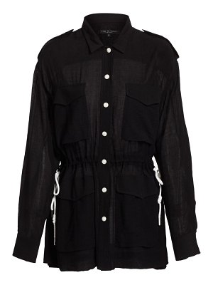 Rag & Bone oasis lace-up rope blouse