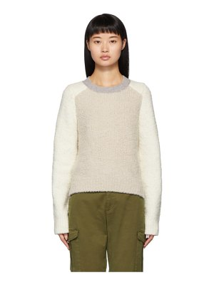 Rag & Bone off-white davis crewneck sweater