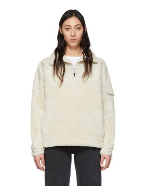 Rag & Bone off-white sherpa logan pullover
