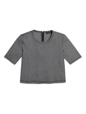 Rag & Bone quinn back zip crop t-shirt