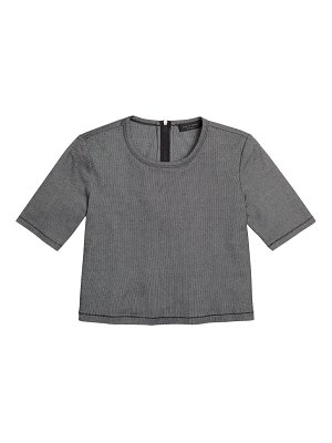 Rag & Bone quinn zip short-sleeve top