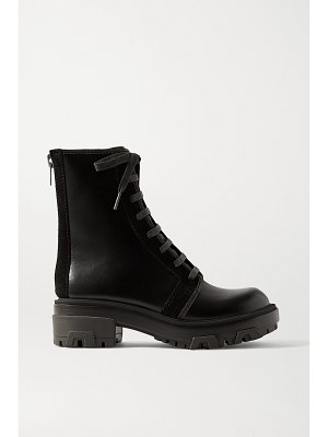 Rag & Bone shaye hiker suede-trimmed leather ankle boots