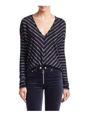Rag & Bone striped hudson jersey top