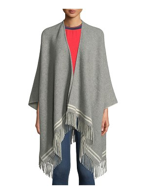 Rag & Bone Striped Wool Fringe Poncho