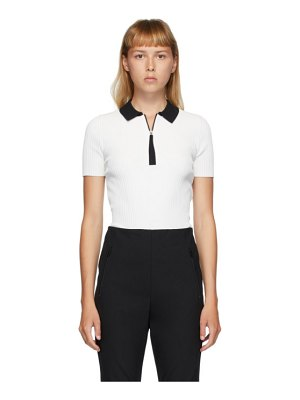 Rag & Bone white cadee polo