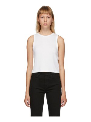 Rag & Bone white cropped the knit rib tank top