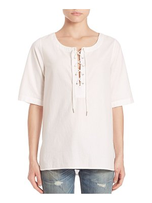 Rag & Bone Cotton Lace-Up Top
