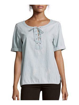 Rag & Bone Lace-Up Cotton Top