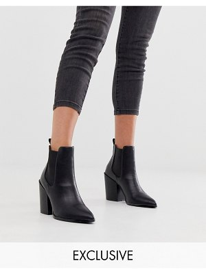 Raid exclusive vienna black heeled chelsea boots