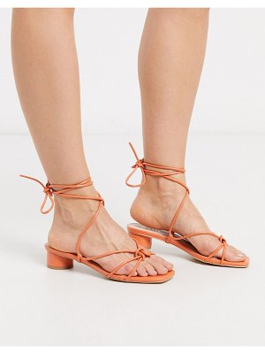 Raid isobel heeled strappy sandals in coral-orange