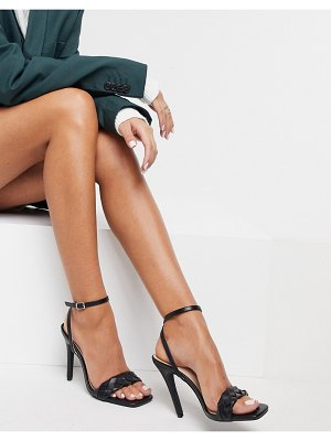 Raid judy plaited heeled sandals in black