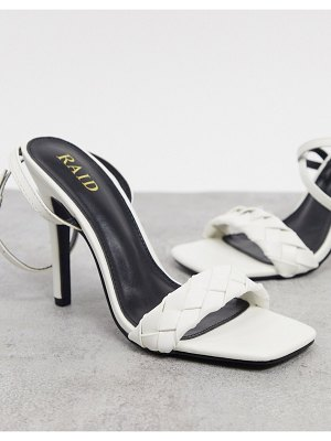 Raid judy plaited heeled sandals in white