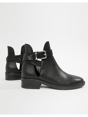 Raid luisa black metal tipped ankle boots