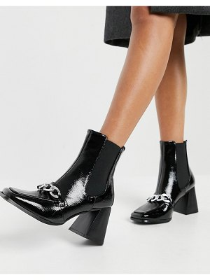Raid shiloh ankle boots with chain detail in black