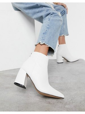 Raid wynter heeled ankle boots in white