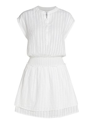 Rails angelina illusion-stripe mini a-line dress