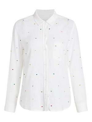 Rails charli embrodiered heart button-down shirt