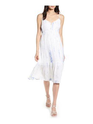 Rails delilah openwork linen blend midi dress