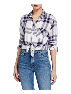 Rails Hunter Plaid Button-Front Top