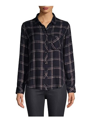 Rails hunter plaid pocket button-down shirt