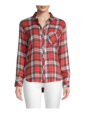 Rails hunter rayon plaid shirt