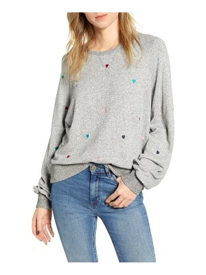 Rails mika heart embroidery sweatshirt