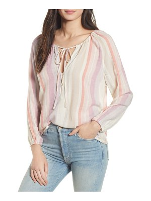 Rails penny tie neck metallic top
