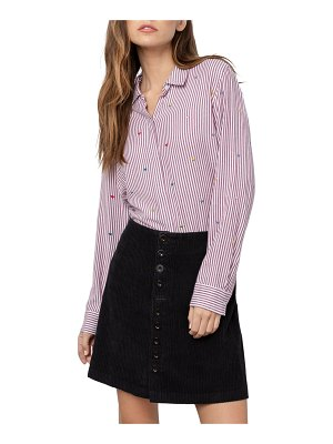Rails Taylor Pinstriped Button-Down Top