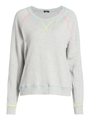 Rails theo neon-seam french terry pullover