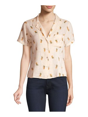 Rails Zuma Pineapple Silk-Blend Short-Sleeve Shirt