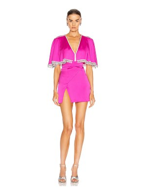 RAISA&VANESSA beaded satin mini dress