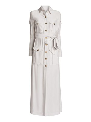Ralph and Russo belted maxi trench dress