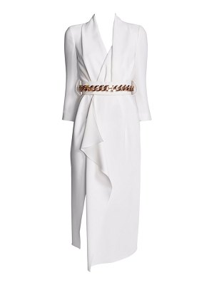 Ralph and Russo belted wrap silk dress
