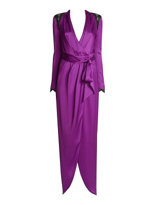 Ralph and Russo embellished silk satin wrap gown