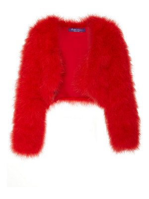 Ralph Lauren alexi marabou feather shrug