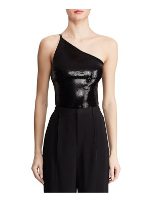 Ralph Lauren Austine Sequin One-Shoulder Bodysuit