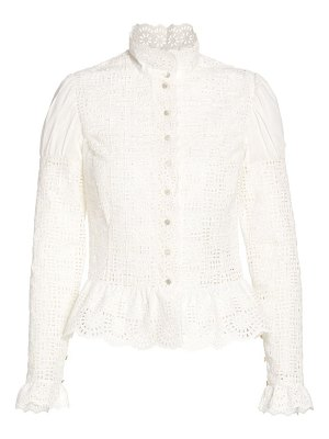 Ralph Lauren Collection bernice embroidered victorian blouse