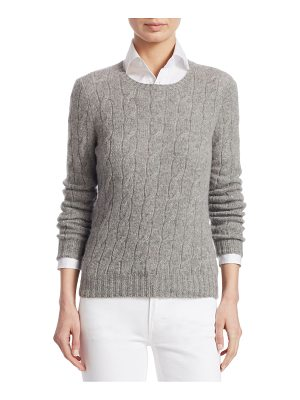 Ralph Lauren Collection iconic style cable-knit sweater