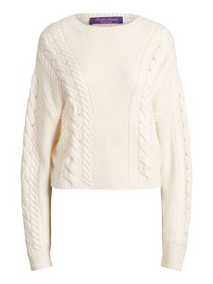 Ralph Lauren Collection dolman-sleeve cable-knit cashmere sweater