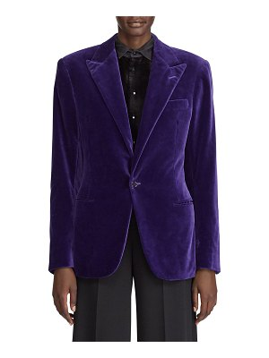Ralph Lauren Collection Fern Cotton Velvet Jacket
