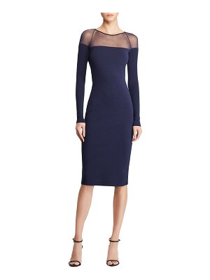 Ralph Lauren Collection Long-Sleeve Illusion Body-Con Dress