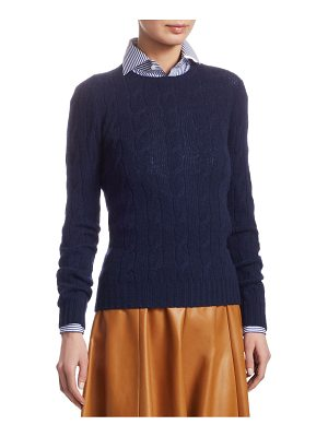 Ralph Lauren Collection cable knit cashmere sweater