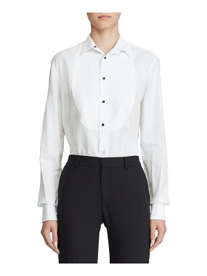 Ralph Lauren Collection Marlie Bibbed Tuxedo Shirt