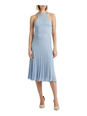 Ralph Lauren Collection pleated pointelle sweater day dress
