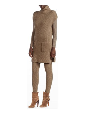Ralph Lauren Collection Ribbed Cashmere Mini Sweater Dress