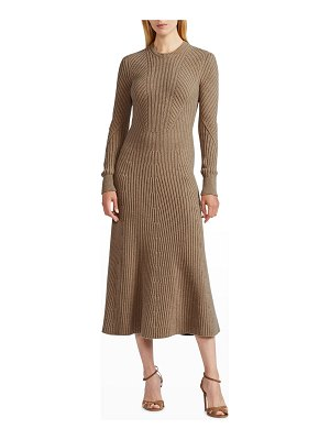 Ralph Lauren Collection Ribbed Cashmere Sweater Midi Dress