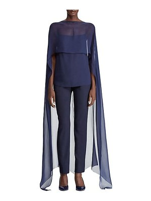 Ralph Lauren Collection silk cape blouse