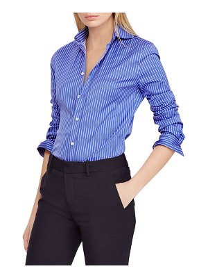 Ralph Lauren Collection Striped Poplin Button-Front Shirt
