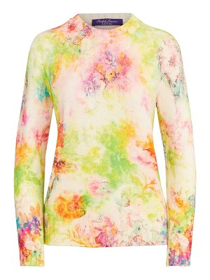 Ralph Lauren Collection floral cashmere crewneck sweater