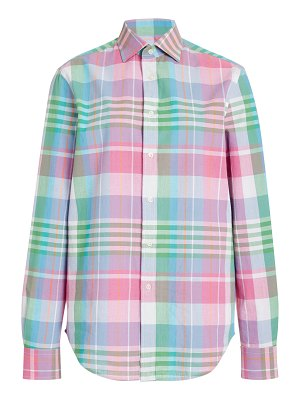 Ralph Lauren hannah plaid cotton and silk-blend shirt